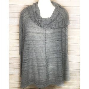 Free People gray oversized cowl neck sweater